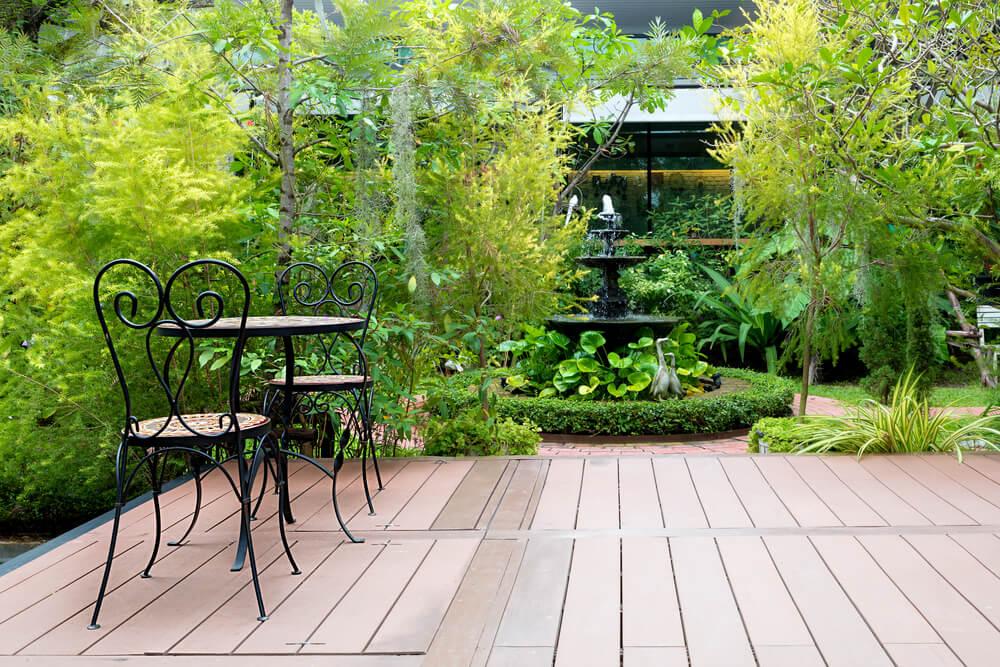 travaux d'aménagement de terrasse